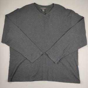 Banana Republic V Neck Long Sleeve Shirt XL